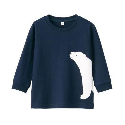 저지 · 프린트 긴소매 티셔츠 · 베이비