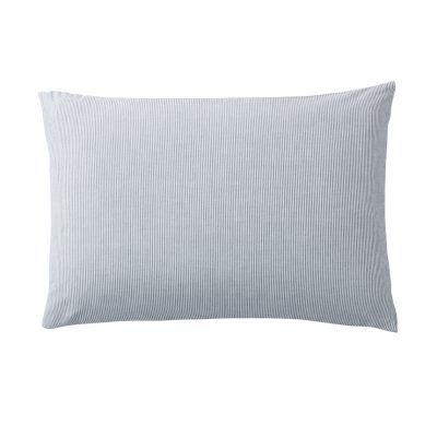 베개 커버 · 50×70 · 네이비 스트라이프 · 워싱면