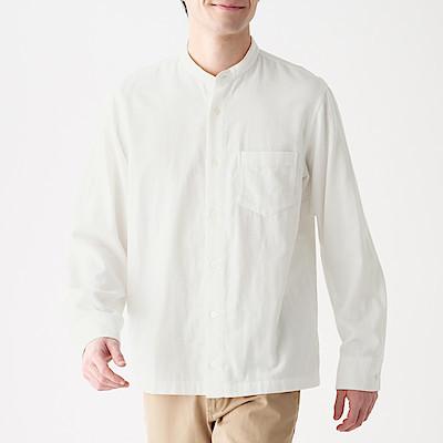 인도 면 이중가제 · 스탠드칼라 셔츠