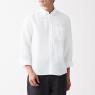 프렌치 리넨 워싱 · 버튼다운 7부소매 셔츠 상품이미지