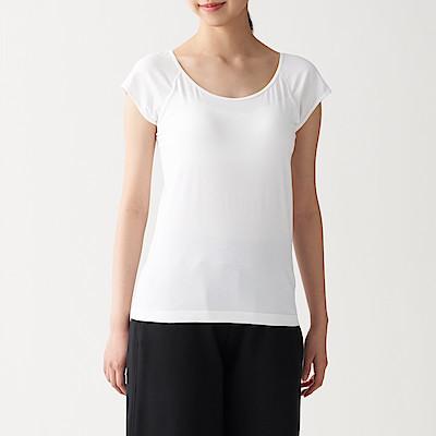 실크 혼방 · 컵인 프렌치슬리브 티셔츠