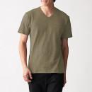슬러브 저지 · V넥 반소매 티셔츠