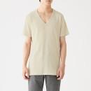 산뜻한 면 · V넥 반소매 티셔츠