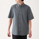 면 서커 · 버튼다운 반소매 셔츠