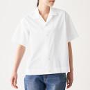 면 혼방 스트레치 · 반소매 오픈칼라 셔츠