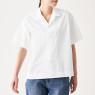 면 혼방 스트레치 · 반소매 오픈칼라 셔츠 상품이미지