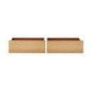 침대 밑 수납박스ㆍ2개 세트ㆍ떡갈나무