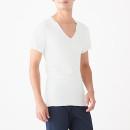 봉제선이 없는 · V넥 반소매 티셔츠