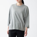 코튼 울 · 7부소매 와이드 스웨터