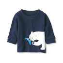 인도면 · 프린트 긴소매 티셔츠