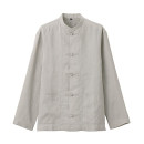 프렌치 리넨 워싱 · 매듭 단추 셔츠