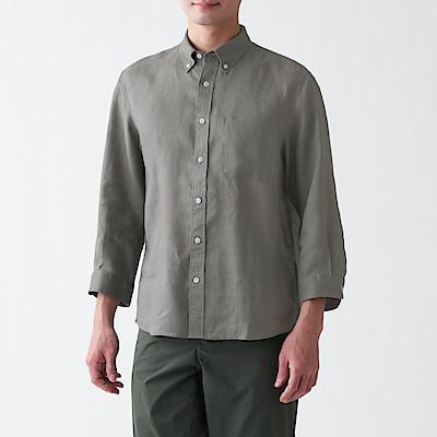 프렌치 리넨 워싱 · 버튼다운 7부소매 셔츠