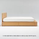 [세트 상품] 떡갈나무 수납 침대 · D + 헤드 보드ㆍD + 추가박스ㆍD
