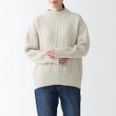 야크 혼방 울 고무뜨기 · 모크넥와이드 스웨터